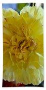 Yellow Carnation Delight Bath Towel