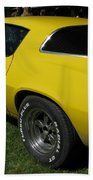 Yellow Classic Car Diablo At The Show Bath Towel