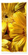 Yellow Daisies Bath Towel