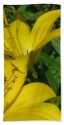 Yellow Easter Lily Bath Towel