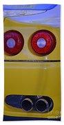 Yellow Ferrari Tail Lights Bath Towel