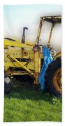 Yellow Ford Tractor Bath Towel