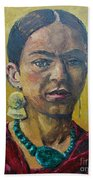 Yellow Frida Hand Towel