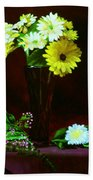 Yellow Gerbera Bath Towel