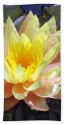Yellow Hardy Water Lily Bath Towel