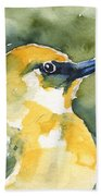 'akiapola'au - Hawaiian Yellow Honeycreeper Bath Sheet