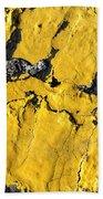 Yellow Line Abstract Bath Towel