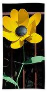 Yellow Metal Garden Flower Bath Towel