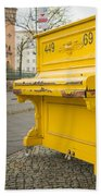 Yellow Piano Beethoven Hand Towel