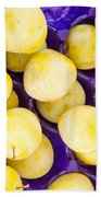 Yellow Plums Bath Towel
