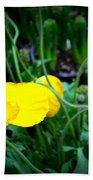 Yellow Poppy Xl Format Floral Photography Bath Towel