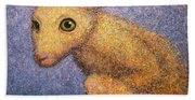 Yellow Rabbit Hand Towel
