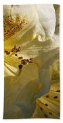 Yellow Rhododendron Bath Towel