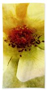 Yellow Rose Painted Bath Towel