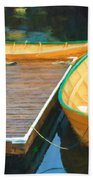 Yellow Rowboats Hand Towel