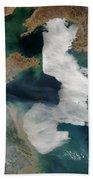 Yellow Sea - Satellite View Bath Towel