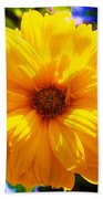 Yellow Sunflower Bath Towel