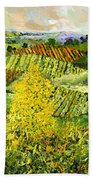 Yellow Trees Bath Towel
