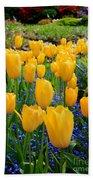 Yellow Tulips Bath Towel