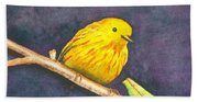 Yellow Warbler II Bath Towel