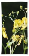 Yellow Wildflowers Bath Towel