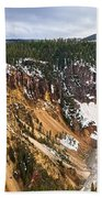 Yellowstone Falls Panorama Bath Towel