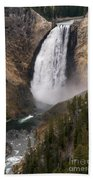 Yellowstone Lower Falls Bath Towel