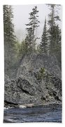 Yellowstone - The Rock Tree Bath Towel