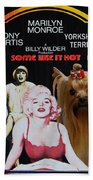 Yorkshire Terrier Art Canvas Print - Some Like It Hot Movie Poster Bath Towel