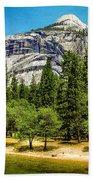 Yosemite Valley Along Yosemite River Beach Bath Towel