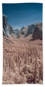 Yosemite Vally In Infrared Bath Towel