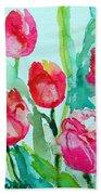 You Enlighten Me- Painting Of Tulips Bath Towel