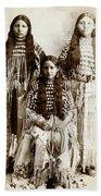 Young Kiowa Belles 1898 Bath Towel