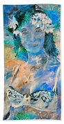 young lady in Papeete Bath Towel
