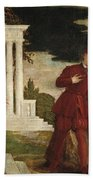 Young Man Between Vice And Virtue Hand Towel