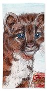 Young Mountain Lion Hand Towel