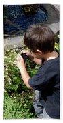 Young Photographer Bath Towel