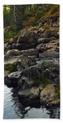 Yuba River Rocks Bath Towel