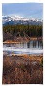 Yukon Taiga Wetland Marsh Spring Thaw Canada Bath Towel