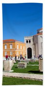 Zadar Historic Architecture Bath Towel