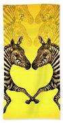 Zebra Heart Bath Towel