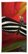 Zebra Longwing Butterfly Bath Towel