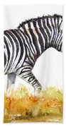 Zebra Panoramic Bath Towel