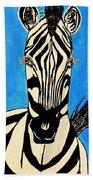 Zebra Portrait 5 Bath Towel
