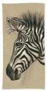 Zebra Profile Bath Towel