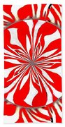 Zebra Red Swirling Kaleidoscope  Bath Towel