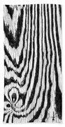 Zebras In Wood Bath Towel