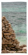 Zen Rocks In Paradise Bath Towel