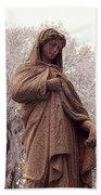 Ziba King Memorial Statue Front View Florida Usa Near Infrared Se Bath Towel