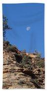Zion National Park Moonrise Bath Towel